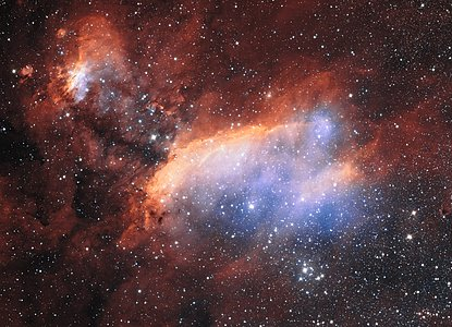 Detailed view of the Prawn Nebula from ESO's VST
