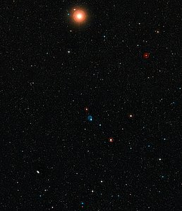 Wide-field view of the sky around Abell 33