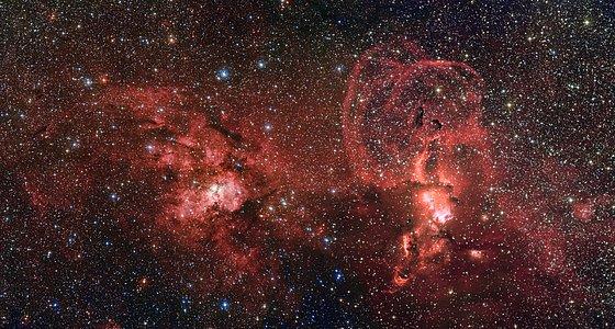 Formación de estrellas en la zona austral de la Vía Láctea