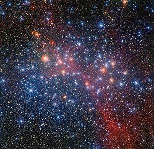 L'amas d'étoiles coloré NGC 3532