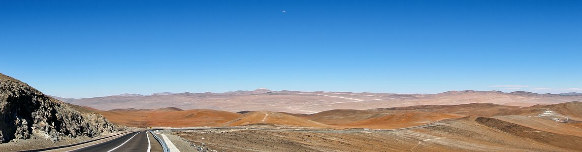 Panoramic view of Cerro Armazones from Paranal