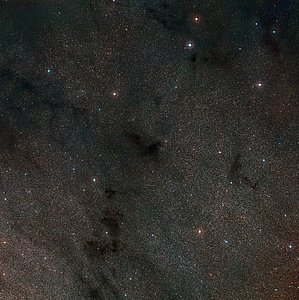 Wide-field view of the sky around the dark nebula LDN 483