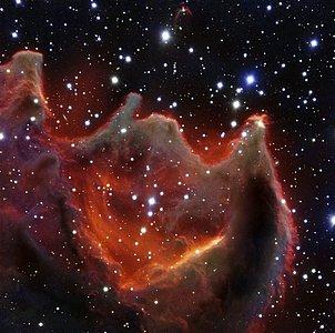 Kometglobulen CG4 fotograferet af VLT