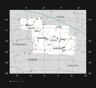 The star HIP 11915 in the constellation of Cetus