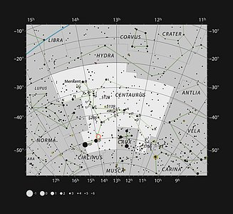 The location of Nova Centauri 2013