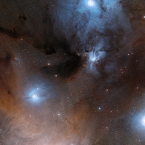 The Rho Ophiuchi star formation region in the constellation of Ophiuchus