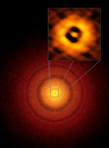 ALMA image of the planet-forming disc around the young, Sun-like star TW Hydrae