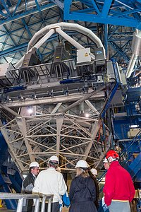 Celebrations for the first light of the Four Laser Guide Star Facility on ESO's VLT