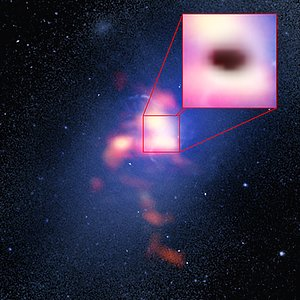 Composite image of Abell 2597 Brightest Cluster Galaxy