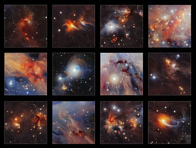 Highlights from VISTA image of Orion A