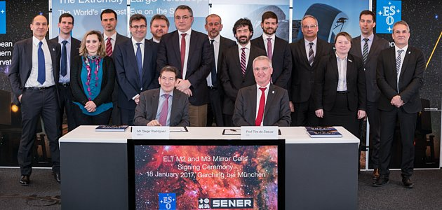 Contract ceremony for the ELT's M2 and M3 mirror cells