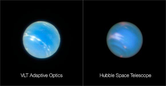 Neptuno desde el VLT y el Hubble
