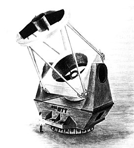 A model of the New Technology Telescope