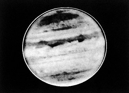 Infrared image of giant planet Jupiter