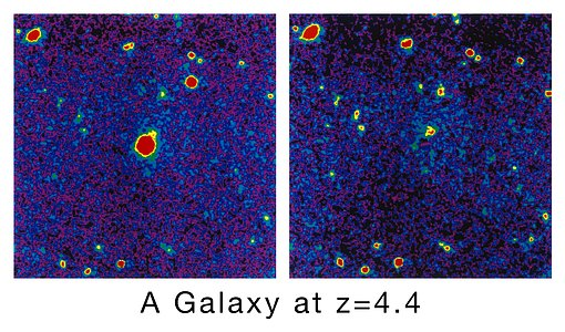 A Galaxy at the Edge of the Universe