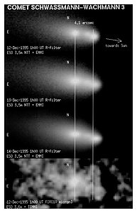 First Images of Split Comet Schwassmann-Wachmann 3
