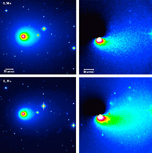 Asymmetries in the Coma of Comet Hyakutake