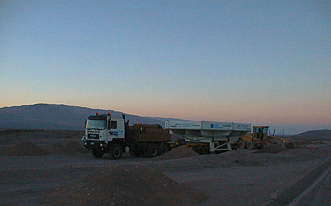 The Convoy Drives through the Desert
