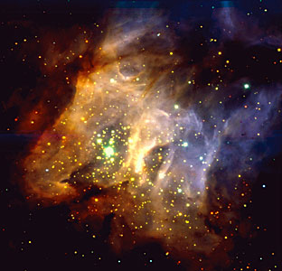 Star-Forming Region RCW38 in the Milky Way