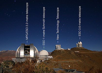 La Silla Observatory (labelled)