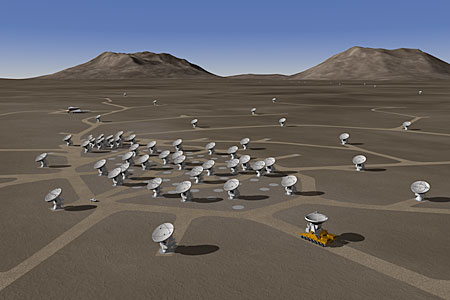 The ALMA Array - 3D Rendering