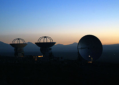 ALMA Antennas at Sunset