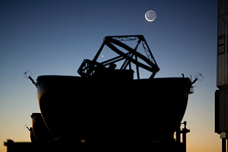 The Moon over one VLT Auxiliary Telescope