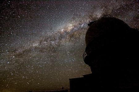 The night sky over La Silla.