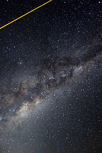 Laser Over the Milky Way