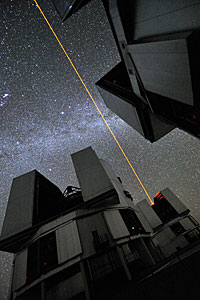 Lying down on the VLT platform