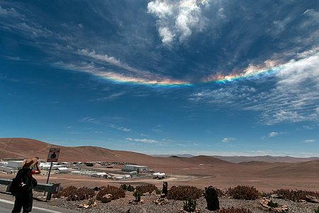 Spectral arc over Paranal