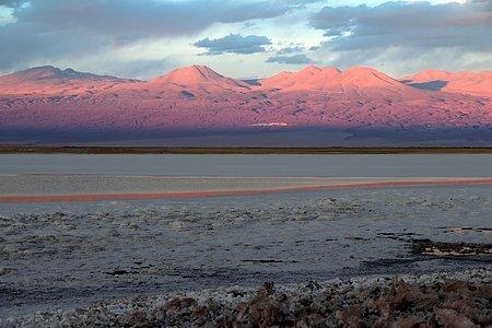 Across a salt lake near ALMA