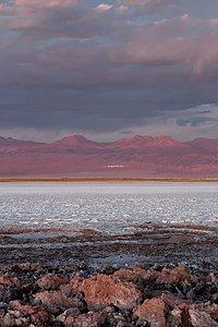 Across a salt lake to ALMA