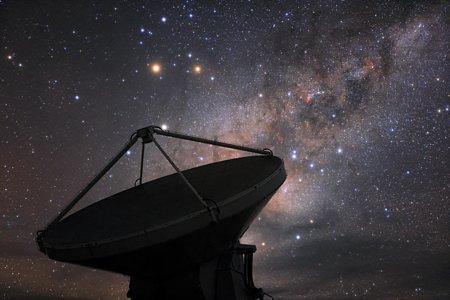 Milky Way behind ALMA