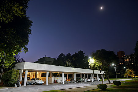 ESO Vitacura office entrance at night