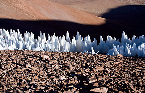Penitentes Ice Formations