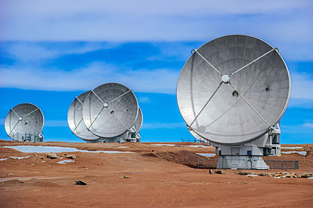 Five ALMA Antennas