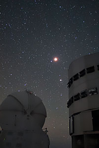 Lunar Eclipse over the VLT