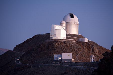 La Silla Telescopes in Twilight