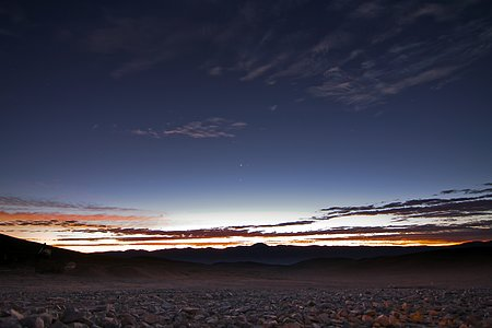 Planet conjunction in the Atacama Desert