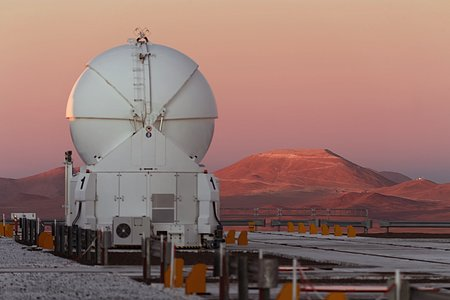 Sunset at Cerro Paranal and Cerro Armazones