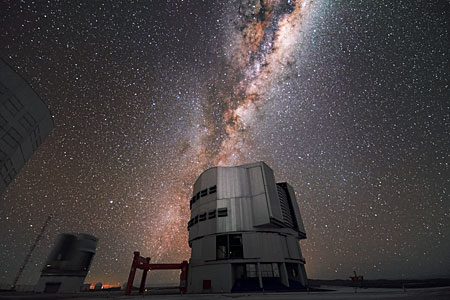 Milky Way over VLT
