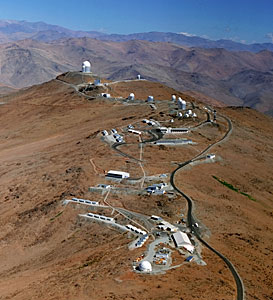 Aerial view of La Silla Observatory