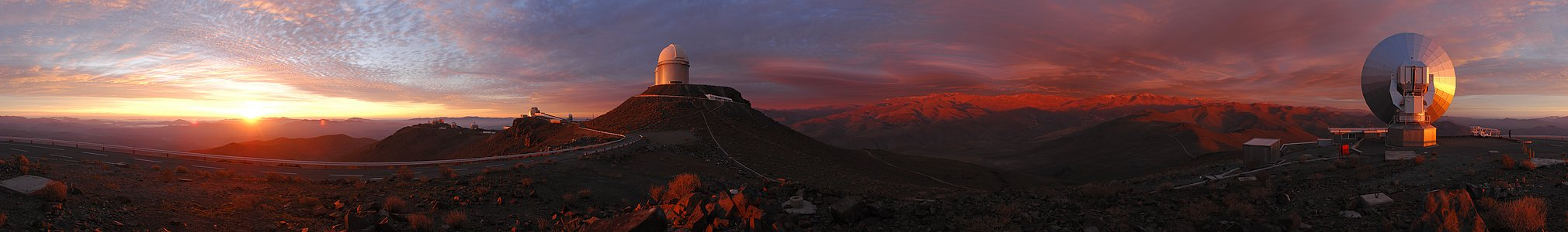 A 360 degree panorama of a unique cloudscape over La Silla *