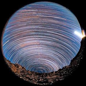Southern star trails above La Silla