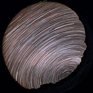 Southern star trails above La Silla