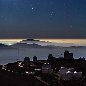 Meteor above La Silla Observatory