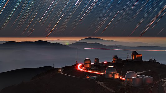 Star Trails over La Silla