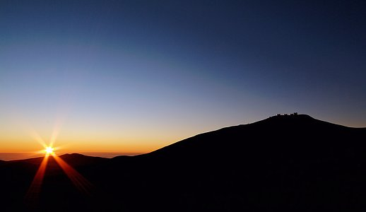 Sunset at ESO's Paranal Observatory