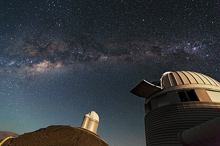 Telescopes at ESO's first site in Chile: the La Silla Observatory